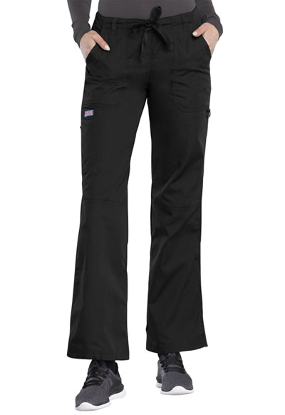 WW Originals Women's Low Rise Drawstring Cargo Pant Black