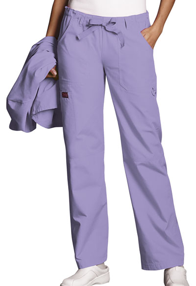 WW Originals Women\'s Low Rise Drawstring Cargo Pant Purple
