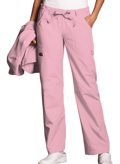 WW Originals Women's Low Rise Drawstring Cargo Pant Pink