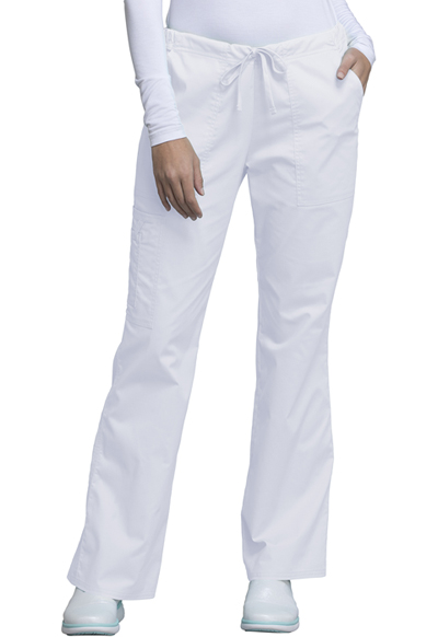 WW Core Stretch Women's Mid Rise Drawstring Cargo Pant White