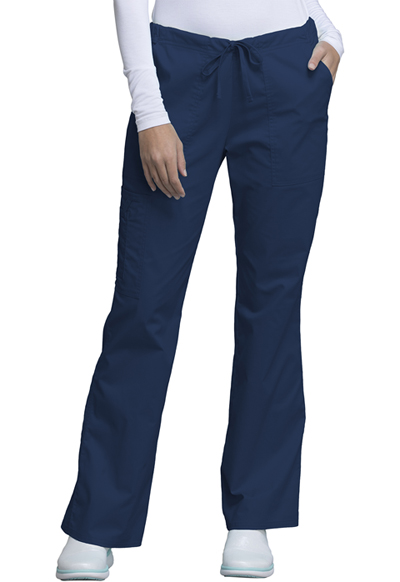 WW Core Stretch Women\'s Mid Rise Drawstring Cargo Pant Blue