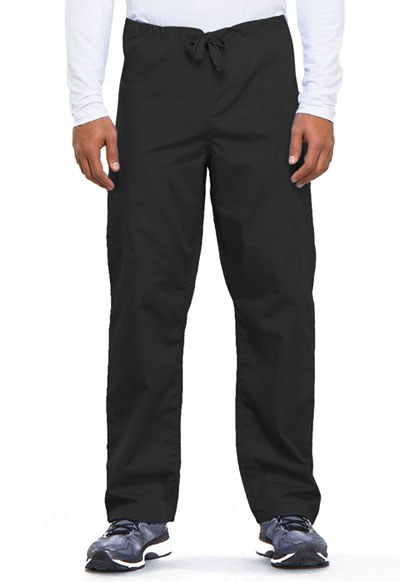 Cherokee Workwear WW Originals Unisex Unisex Drawstring Cargo Pant Black
