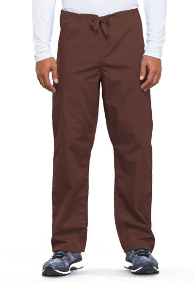 Cherokee Workwear WW Originals Unisex Unisex Drawstring Cargo Pant Brown