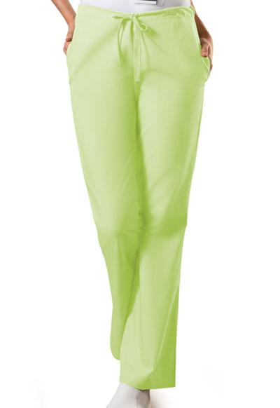 WW Originals Women's Natural Rise Flare Leg Drawstring Pant Green