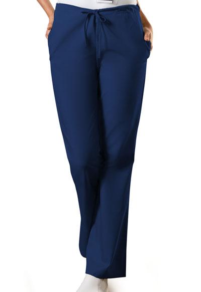 WW Originals Women's Natural Rise Flare Leg Drawstring Pant Blue