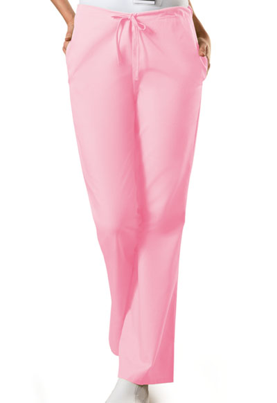 WW Originals Women's Natural Rise Flare Leg Drawstring Pant Pink