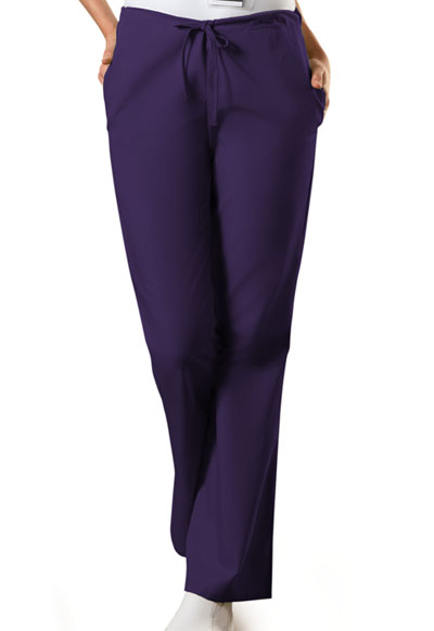 WW Originals Women\'s Natural Rise Flare Leg Drawstring Pant Purple