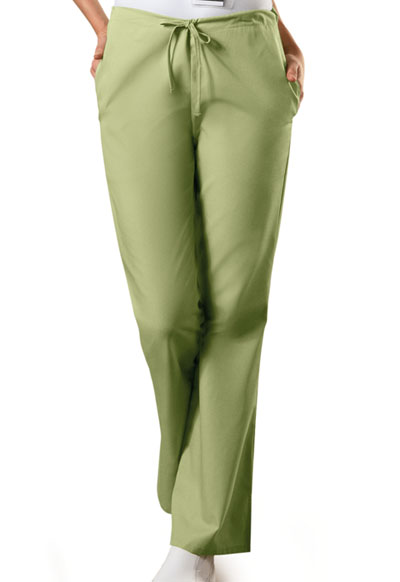 WW Originals Women\'s Natural Rise Flare Leg Drawstring Pant Green