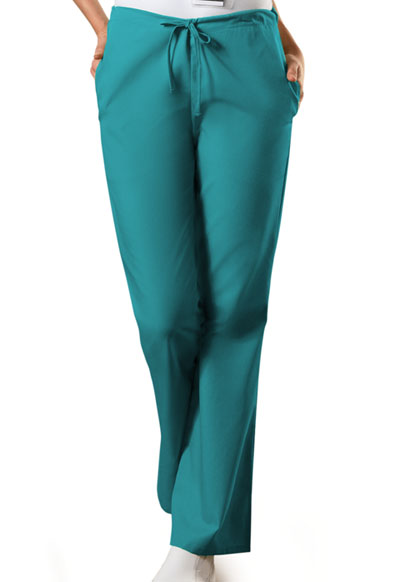 WW Originals Women Natural Rise Flare Leg Drawstring Pant Green