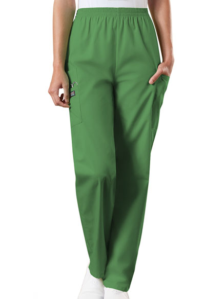 WW Originals Women\'s Natural Rise Tapered LPull-On Cargo Pant Green