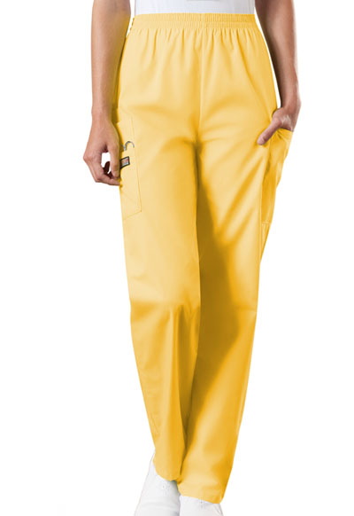 WW Originals Women's Natural Rise Tapered Pull-On Cargo Pant Yellow