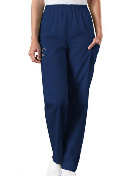 WW Originals Women Natural Rise Tapered Pull-On Cargo Pant Blue