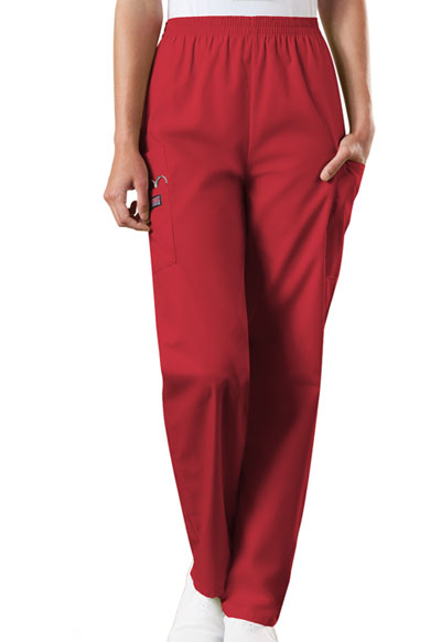 WW Originals Women\'s Natural Rise Tapered LPull-On Cargo Pant Red