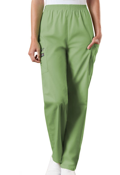 WW Originals Women's Natural Rise Tapered Pull-On Cargo Pant Green