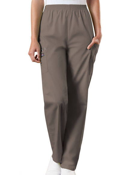 Cherokee Workwear WW Originals Women's Natural Rise Tapered LPull-On Cargo Pant Neutral