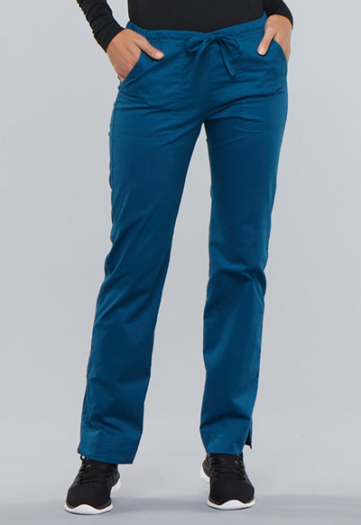4c879602f8f Photograph of WW Core Stretch Women's Mid Rise Straight Leg Drawstring Pant  Blue 4203P-CARW