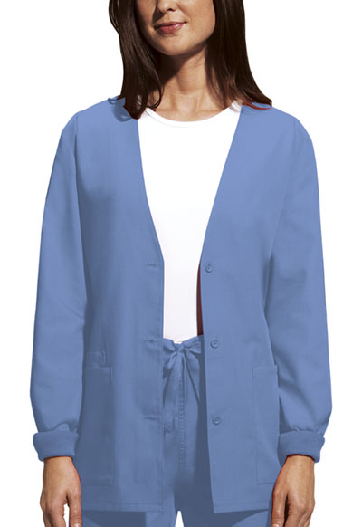 WW Originals Women's Cardigan Warm-Up Jacket Blue