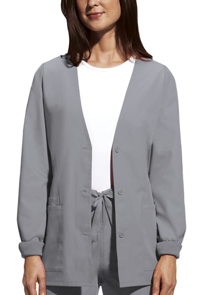 WW Originals Women's Cardigan Warm-Up Jacket Grey