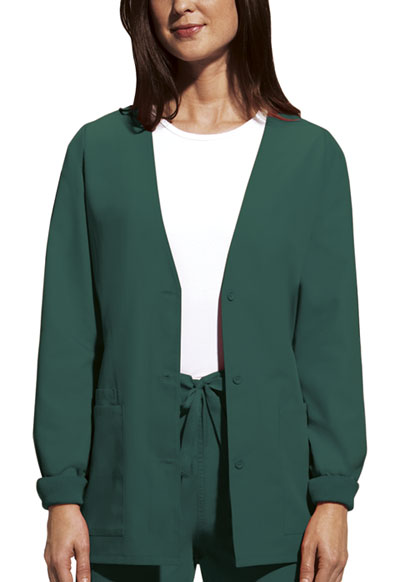 WW Originals Women\'s Cardigan Warm-Up Jacket Green