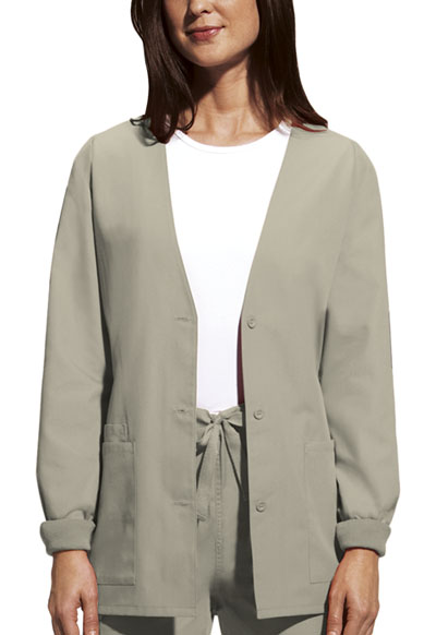 WW Originals Women's Cardigan Warm-Up Jacket Khaki