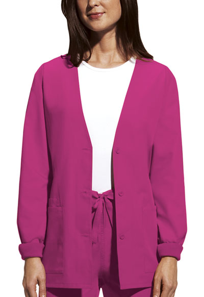 WW Originals Women's Cardigan Warm-Up Jacket Pink