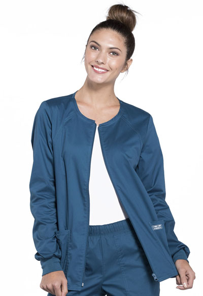 WW Core Stretch Women\'s Zip Front Warm-Up Jacket Blue