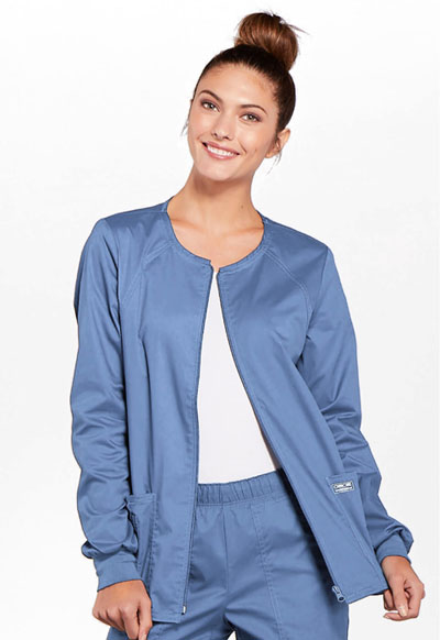 WW Premium Women's Zip Front Warm-Up Jacket Blue