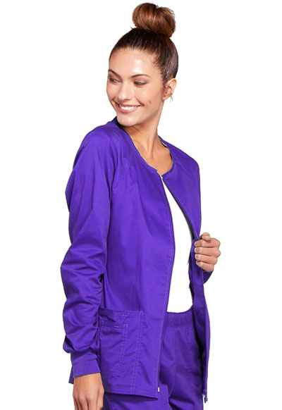 75923f10844 Photograph of WW Core Stretch Women's Zip Front Warm-Up Jacket Purple  4315-GRPW