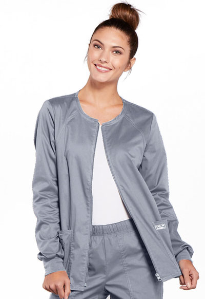 WW Core Stretch Women's Zip Front Warm-Up Jacket Gray