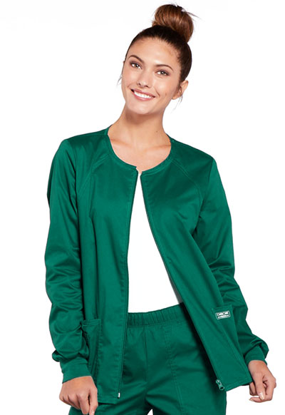 WW Core Stretch Women's Zip Front Warm-Up Jacket Green