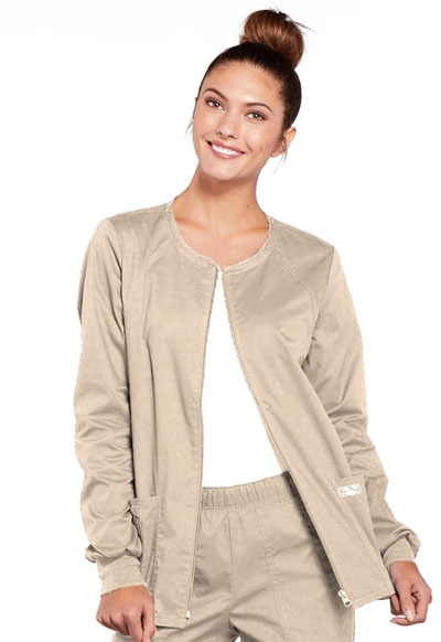 WW Core Stretch Women's Zip Front Warm-Up Jacket Khaki