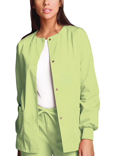 WW Originals Women's Snap Front Warm-Up Jacket Green