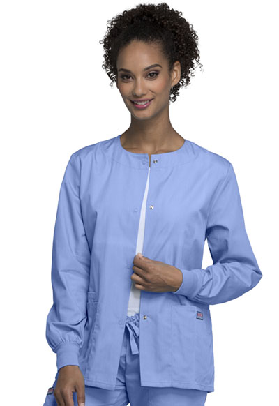 WW Originals Women\'s Snap Front Warm-Up Jacket Blue