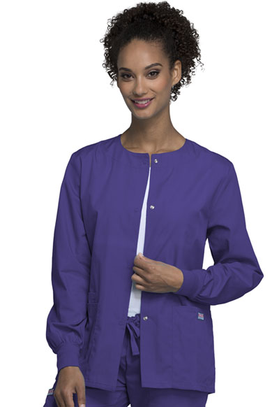 WW Originals Women\'s Snap Front Warm-Up Jacket Purple