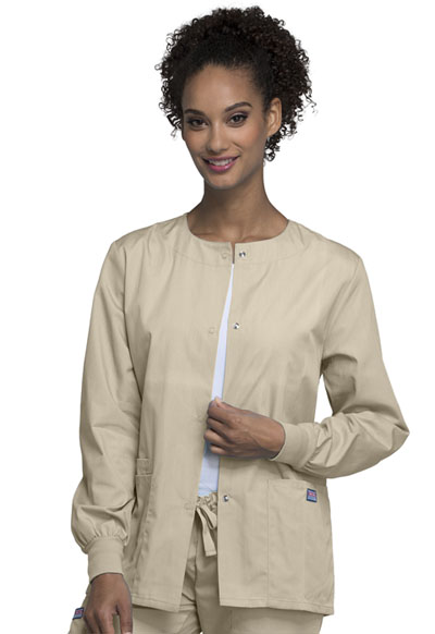 WW Originals Women's Snap Front Warm-Up Jacket Khaki