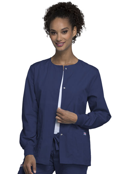 WW Originals Women's Snap Front Warm-Up Jacket Blue