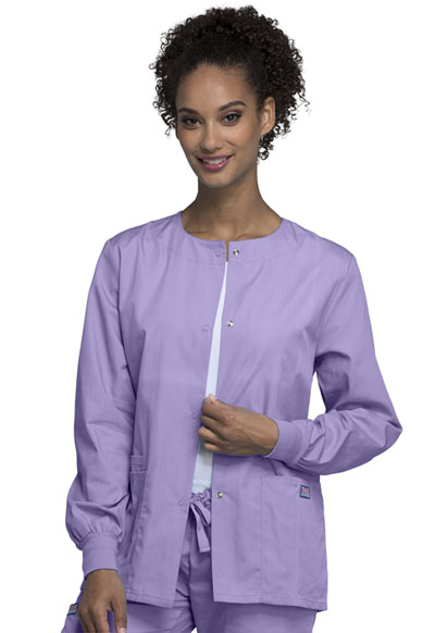 WW Originals Women Snap Front Warm-Up Jacket Purple
