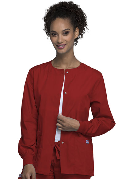 WW Originals Women Snap Front Warm-Up Jacket Red