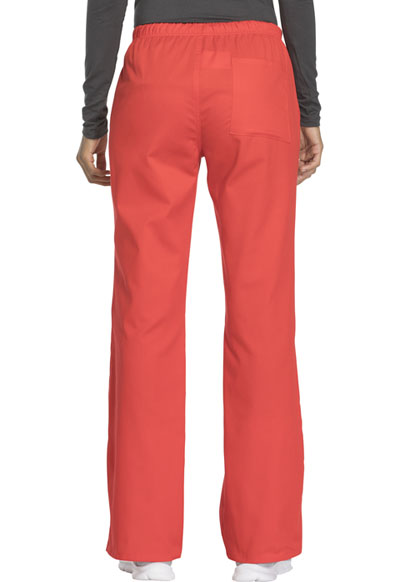 ea1939443b7 Photograph of WW Flex Women's Mid Rise Moderate Flare Drawstring Pant Red  44101A-HTLW