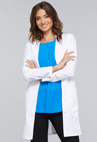 WW Core Stretch Women's 33 Lab Coat White