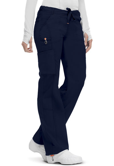 Bliss Women Low Rise Straight Leg Drawstring Pant Blue