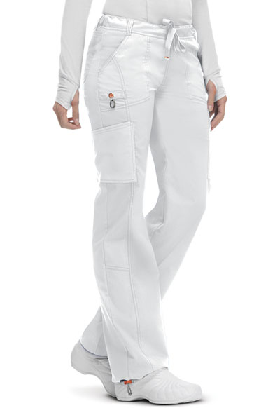 Bliss Women's Low Rise Straight Leg Drawstring Pant White