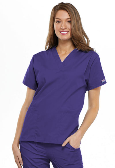 2a74f63abbb WW Originals V-Neck Top in Grape 4700-GRPW from Cherokee Scrubs at ...