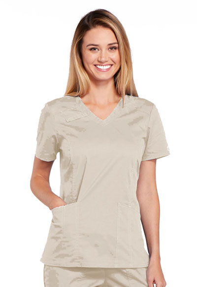 WW Core Stretch Women's V-Neck Top Khaki