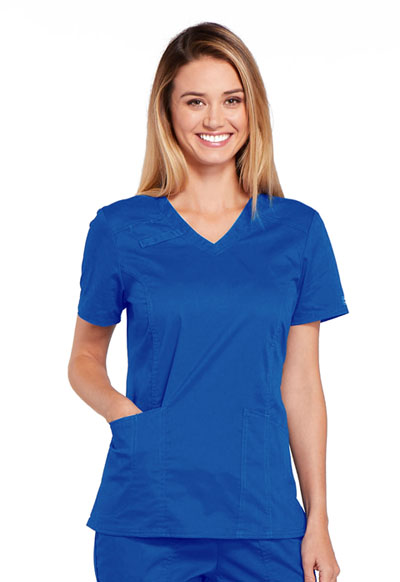 WW Core Stretch Women's V-Neck Top Blue