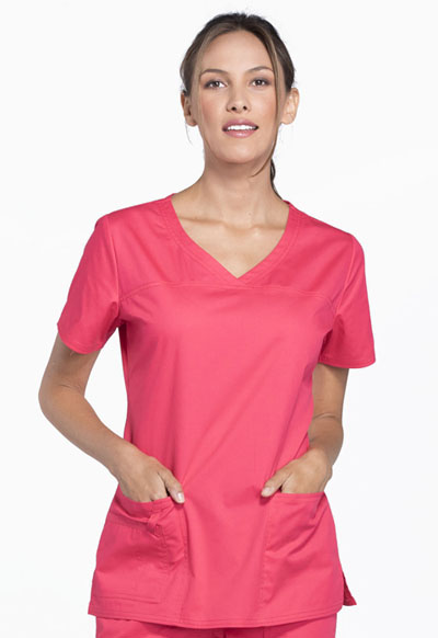 WW Core Stretch Women's V-Neck Top Pink