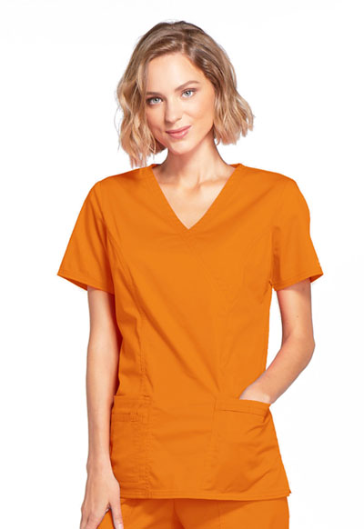 WW Core Stretch Women's Mock Wrap Top Orange