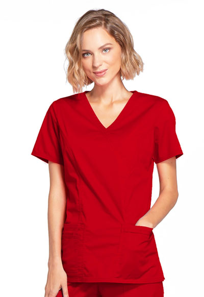 WW Core Stretch Women's Mock Wrap Top Red
