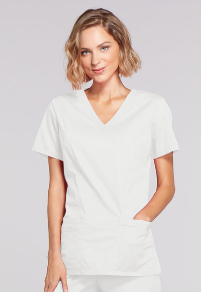 WW Core Stretch Women's Mock Wrap Top White