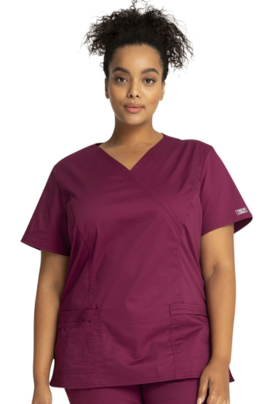 WW Premium Women's Mock Wrap Top Purple